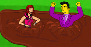 Kairi and Johnny Tightlips Falling in Quicksand
