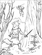 Picket attacks wolf