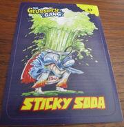 Sticky soda sticker card