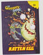 Rotten egg sticker card