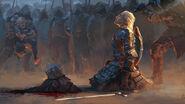 Warrior-soldiers-armor-weapon-sword-king-crown-head-decapita