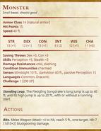 Fledgling Songdrake (Level 1) Statblock-v2