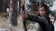 Ellie holding bow