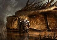 Brown dragon rider