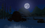 Луна и Амбар