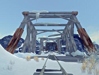 Разрушенный мост (Разбитая железная дорога)