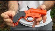 Modified Flare Gun one shot Derringer Pistol