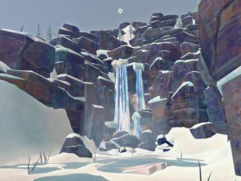 Кривой водопад