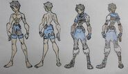 Shiro Mariya, Swimsuit and W'out Armor