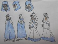 Yue, Cloak and Wedding Dress