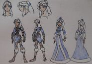 Yue, Warrior Casual Attire and Princess Gown