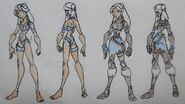 Yue, Swimsuit and without Armor and Jacket