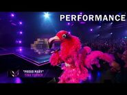 "Flamingo sings ""Proud Mary"" by Tina Turner - THE MASKED SINGER - SEASON 2"