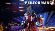 """Rhino sings """"What A Man Gotta Do"""" by Jonas Brothers THE MASKED SINGER SEASON 3"""