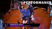 "Rhino sings ""Tracks of My Tears"" by Smokey Robinson & The Miracles THE MASKED SINGER SEASON 3"