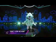 """Monster sings """"Don't Stop Me Now"""" by Queen - THE MASKED SINGER - SEASON 1"""