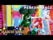 "Broccoli sings ""House is Rockin'-Whole Lotta Shakin Going On"" - THE MASKED SINGER - SEASON 4"