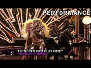 """Lion sings """"A Little Party Never Killed Nobody"""" by Fergie - THE MASKED SINGER - SEASON 1"""