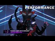 """Black Widow sings """"I Wanna Dance With Somebody"""" - THE MASKED SINGER - SEASON 2"""