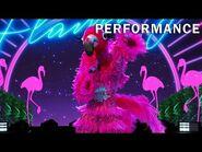 "Flamingo sings ""Sucker"" by The Jonas Brothers - THE MASKED SINGER - SEASON 2"