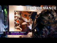 """Fox sings """"Hey Look Ma, I Made It"""" by Panic! At The Disco - THE MASKED SINGER - SEASON 2"""