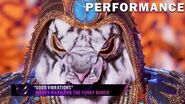 """White Tiger sings """"Good Vibrations"""" by Marky Mark and The Funky Bunch THE MASKED SINGER SEASON 3"""