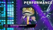 """Frog sings """"You Dropped a Bomb on Me"""" by The Gap Band THE MASKED SINGER SEASON 3"""