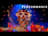 """Mushroom sings """"If I Could Turn Back Time"""" by Cher - THE MASKED SINGER - SEASON 4"""