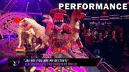 """T-Rex sings """"Jai Ho! (You Are My Destiny)"""" by The Pussycat Dolls THE MASKED SINGER SEASON 3"""