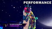 """Taco sings """"Fly Me to the Moon"""" by Frank Sinatra THE MASKED SINGER SEASON 3"""