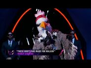 """Eagle sings """"These Boots Are Made For Walkin'"""" by Nancy Sinatra - THE MASKED SINGER - SEASON 2"""