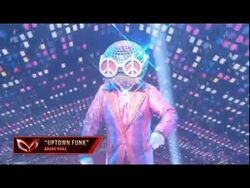 """Disco Ball Dances To """"Uptown Funk"""" By Bruno Mars - Masked Dancer - S1 E1"""
