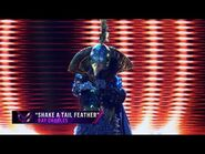 """Peacock sings """"Shake A Tail Feather"""" by The Five Du-Tones - THE MASKED SINGER - SEASON 1"""
