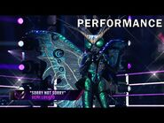 """Butterfly sings """"Sorry Not Sorry"""" by Demi Lovato - THE MASKED SINGER - SEASON 2"""