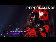 "Ladybug sings ""Hit Me With Your Best Shot"" by Pat Benatar - THE MASKED SINGER - SEASON 2"