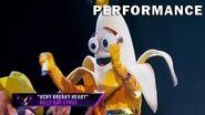 "Banana sings ""Achy Breaky Heart"" by Billy Ray Cyrus THE MASKED SINGER SEASON 3"