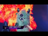 """Monster sings """"I Don't Want To Be"""" - THE MASKED SINGER - SEASON 1"""