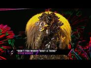 """Lion sings """"Don't You Worry 'Bout A Thing"""" by Stevie Wonder - THE MASKED SINGER - SEASON 1"""
