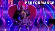 """Night Angel sings """"Shout!"""" by Isley Brothers THE MASKED SINGER SEASON 3"""