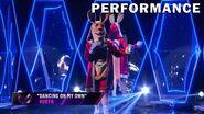 "Kangaroo sings ""Dancing On My Own"" by Robyn THE MASKED SINGER SEASON 3"