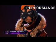 """Rottweiler sings """"Someone You Loved"""" by Lewis Capaldi - THE MASKED SINGER - SEASON 2"""