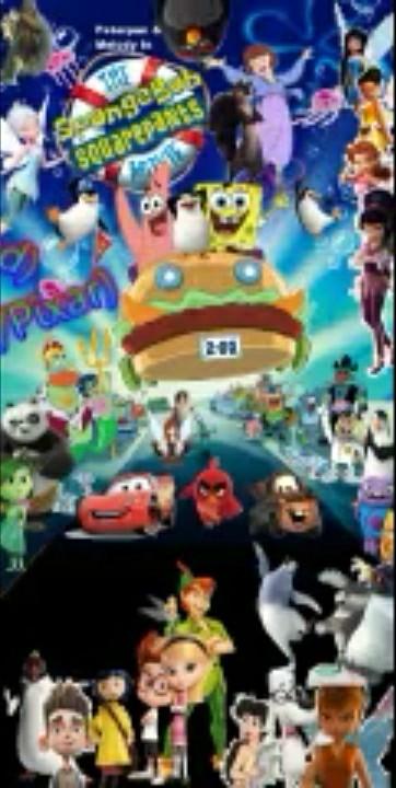 Peter Pan and Melody meets Spongebob SquarePants Movie