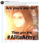 The Alita Army ad campaign