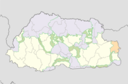 Sakteng protected area location map