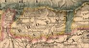 1888-Edward-Stanford-borders-of-the-Chinese-empire-near-Bhutan