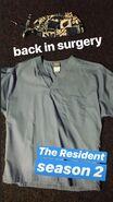 Behind The Scenes - Season Two - Vince Foster's Instagram - Paul Chu's Scrubs