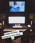 Behind The Scenes - Season Two - Jason Derlatka Instagram - Composing Studio (2)