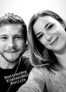 Behind The Scenes - Season Two - Emily VanCamp's Instagram - Emily and Matt (1)