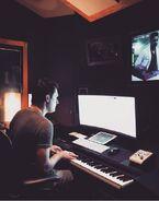 Behind The Scenes - Season Two - Jason Derlatka Instagram - Composing Studio (3)