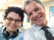 Behind The Scenes - Season Two - Amy Holden Jones Twitter - Amy and Bruce (1)